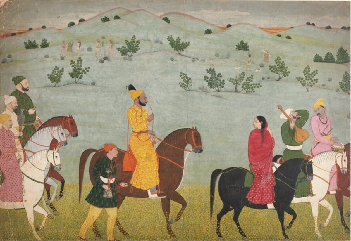 Mian Mukund Dev of Jasrota, Pahari style, 1740-1745 AD.
