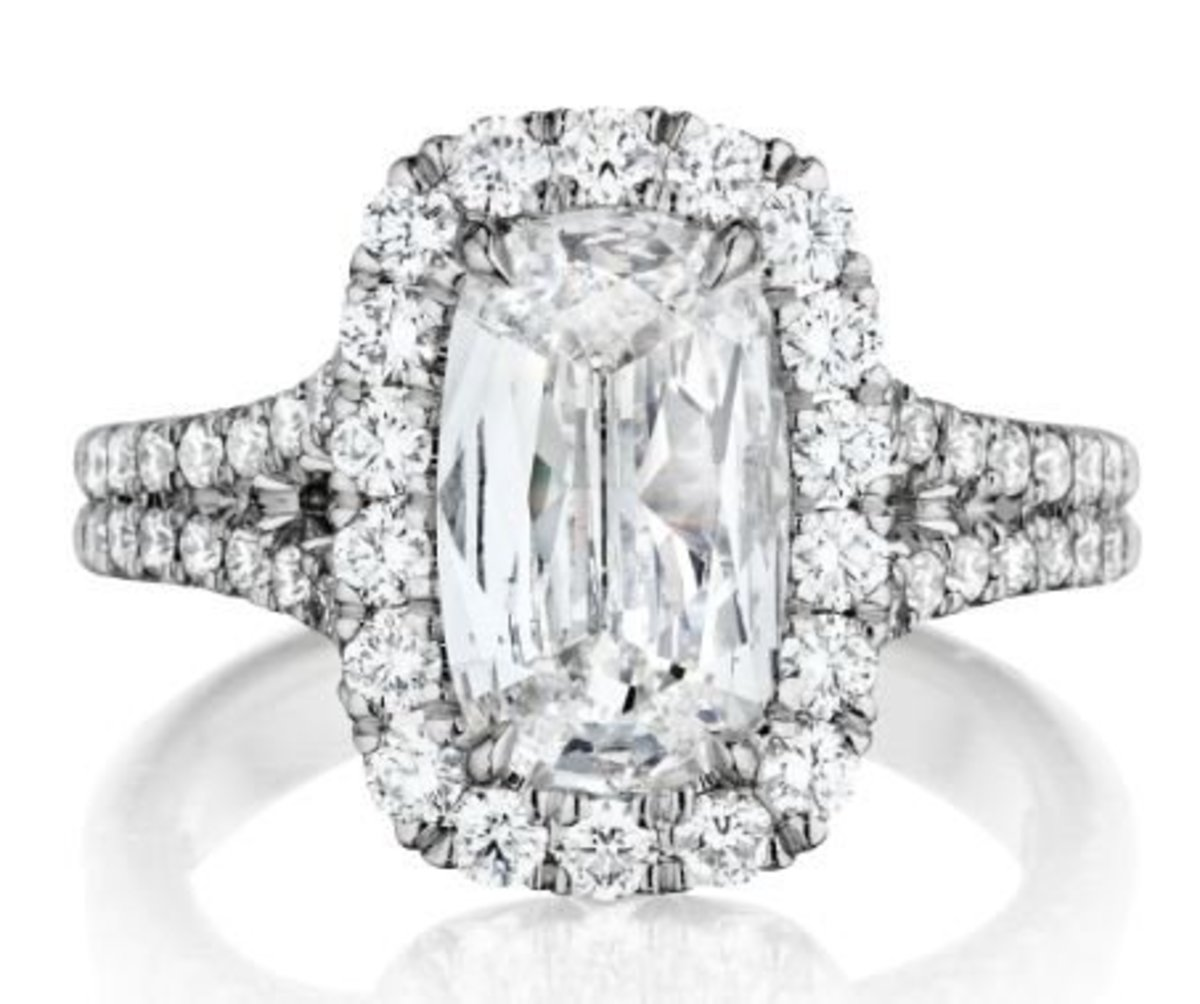 This Henri Daussi engagement ring from Solomon Brothers via Amazon will stretch your budget, but only a little.