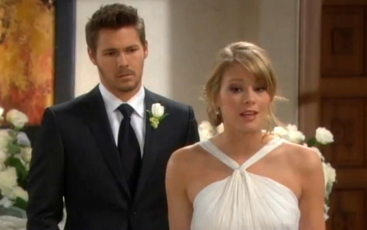 Hope and Liam's first wedding attempt ended at the altar.  Liam finally had to tell Hope that wife Steffy had refused to sign annulment papers – wanting a divorce instead!.