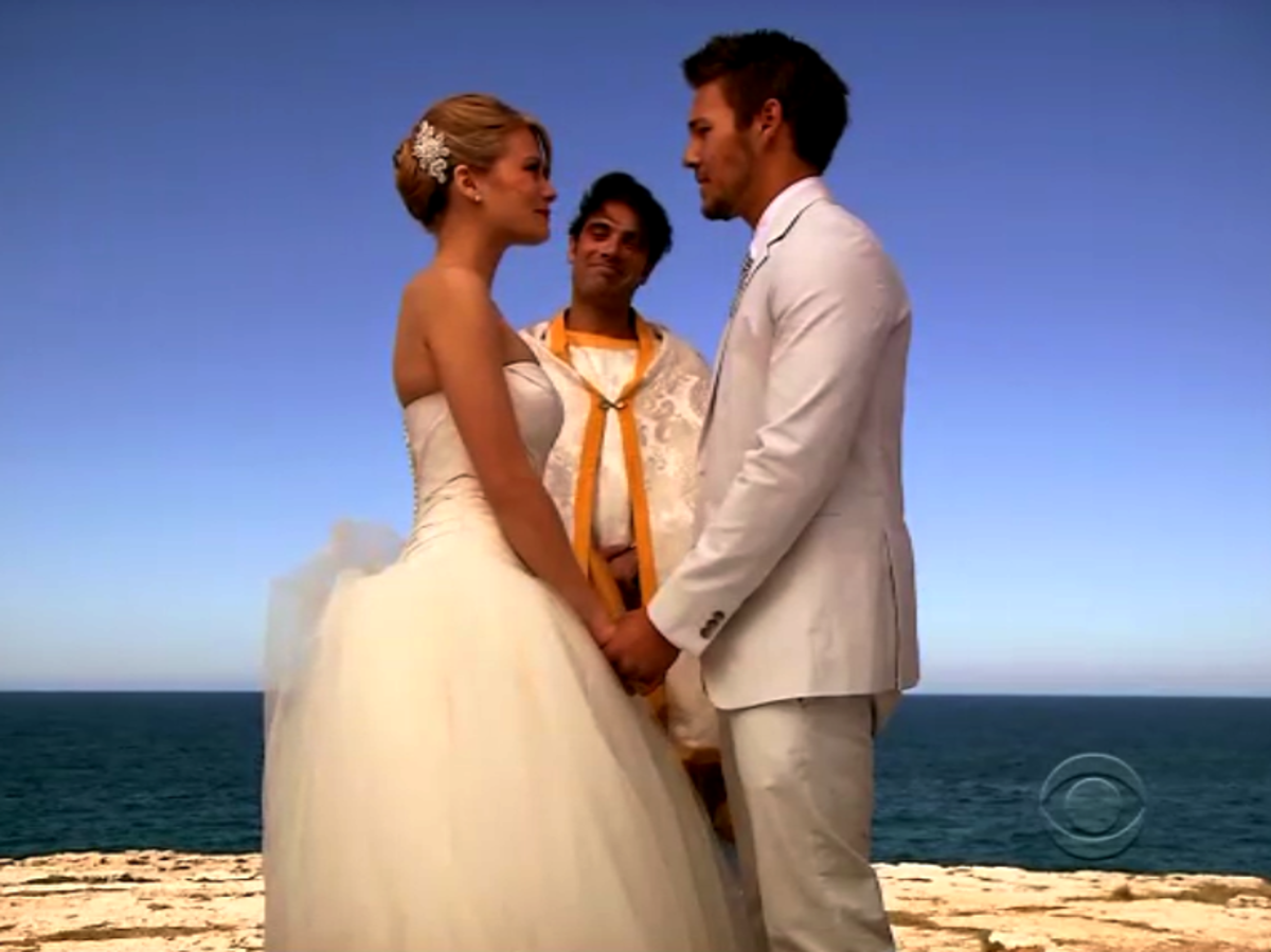 Despite the misunderstandings of the day, Hope and Liam did finally marry