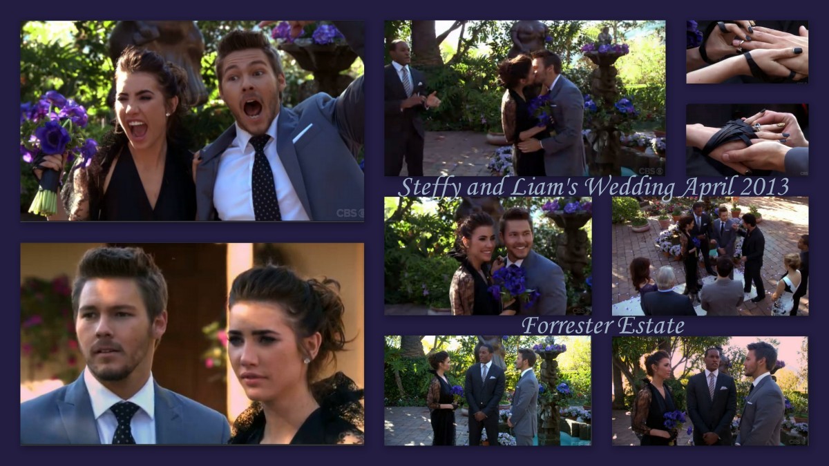 Steffy and Liam married for the second time in the Forrester estate courtyard