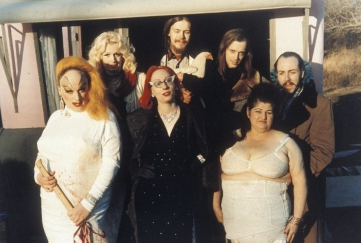 The Dreamlanders on the set of Pink Flamingos