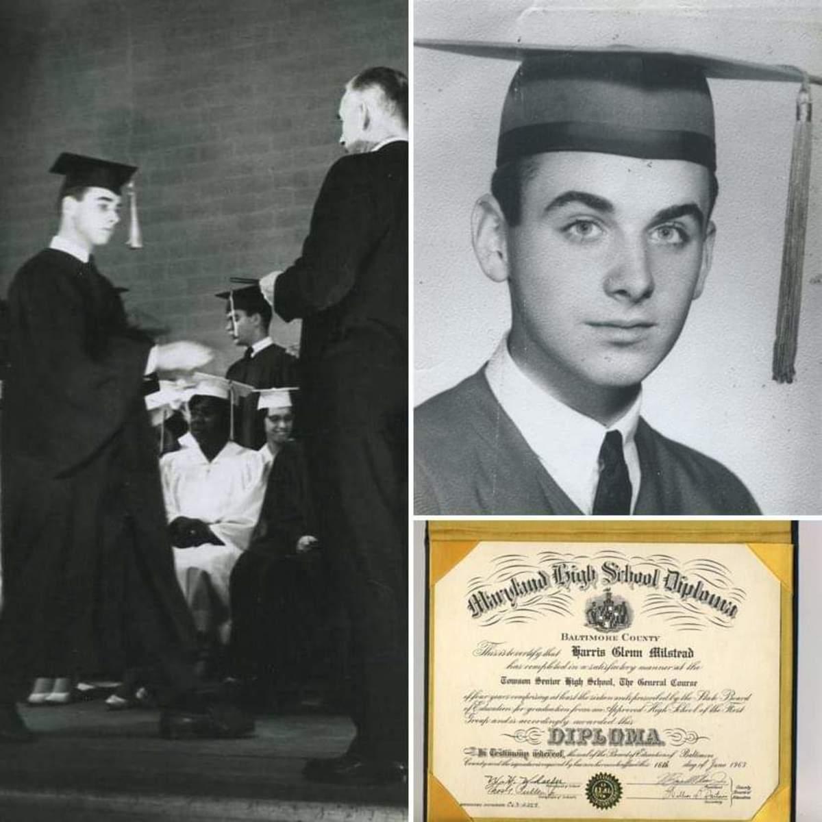 Glenn Harris Milstead's high school graduation