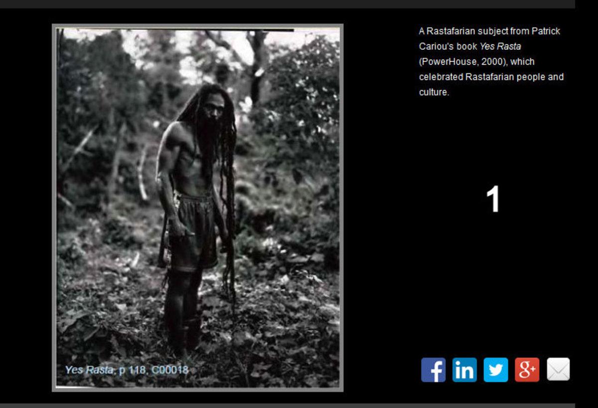 Patrick Cariou's photograph of a Rastafarian man
