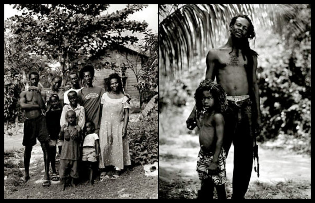 Candid photos of Rastafarian people