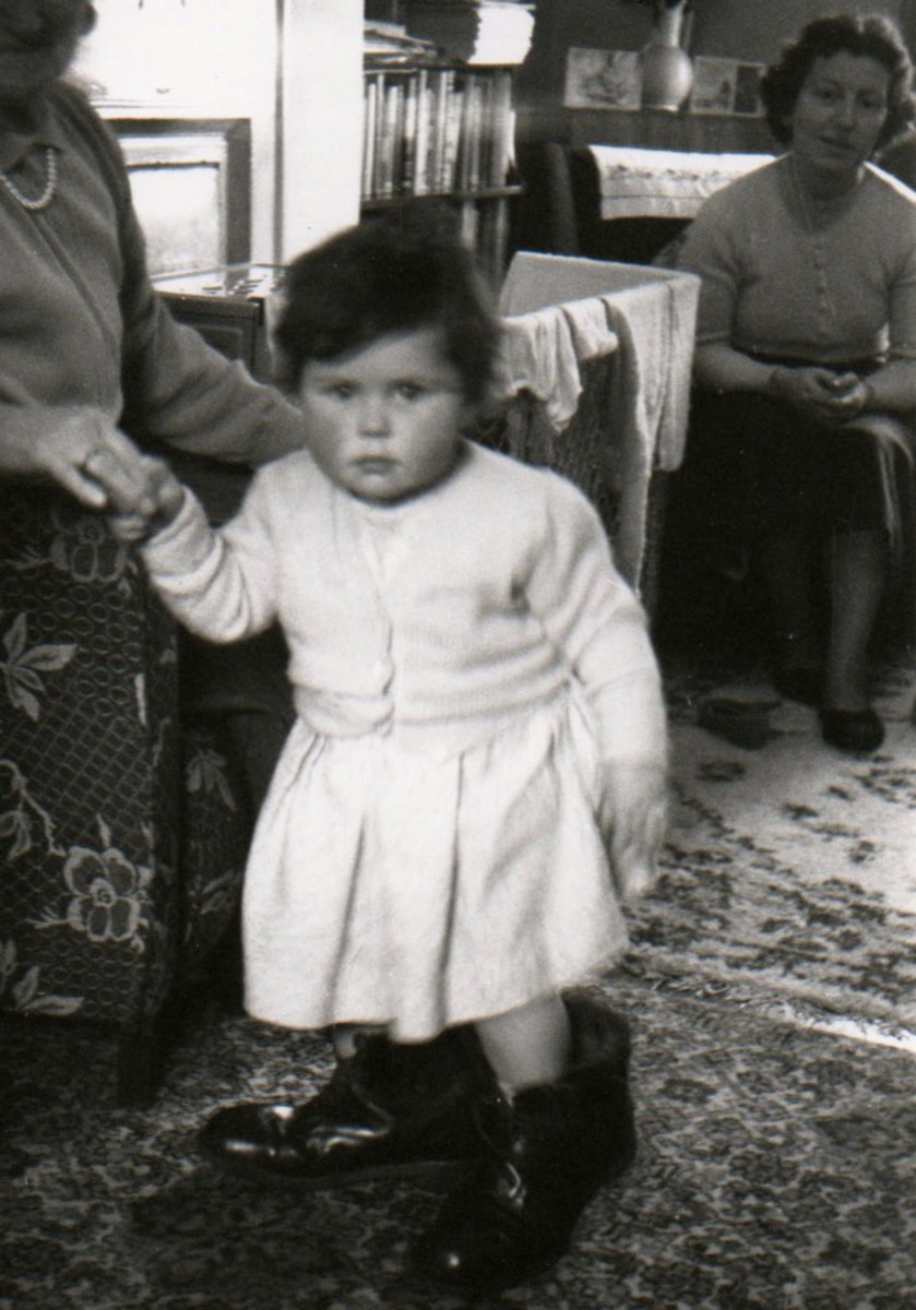Little me in Granddad's Boots!