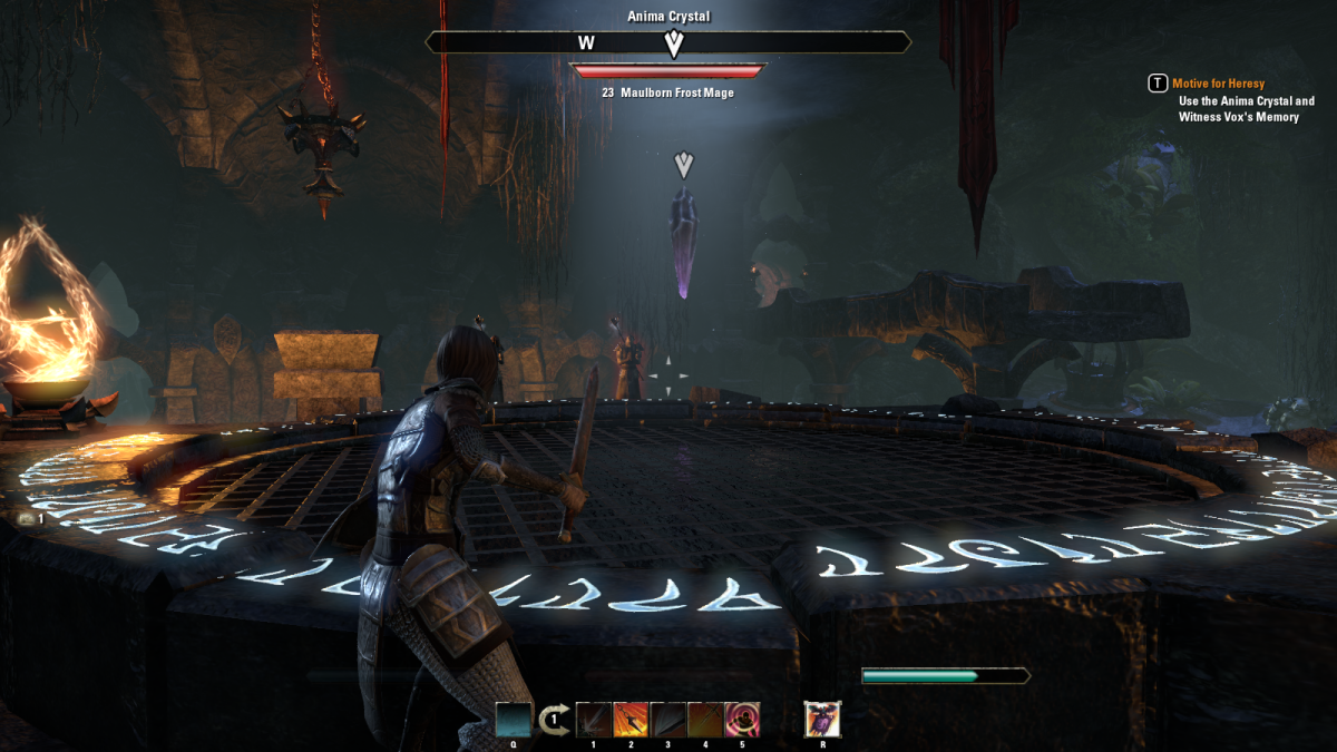 Infiltrating Vox's Cave, a twisted science lab in the Motive for Heresy quest of The Elder Scrolls Online.