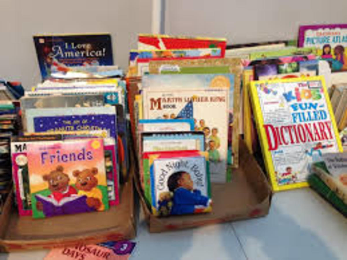 A great place to find books for your students could be just around the corner or in your own attic!