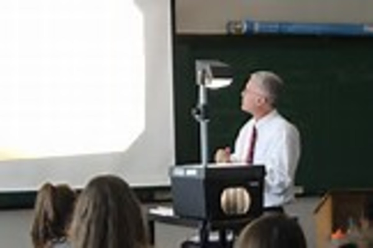 The use of overhead projectors can enhance the learning experience greatly.