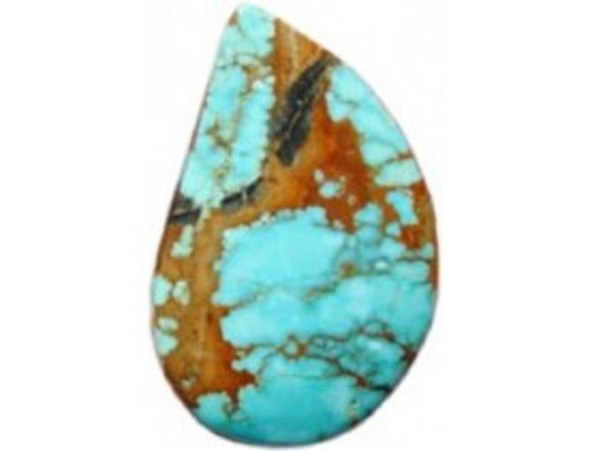 Cabochon cut by Marty Andersen from #8 Mine Turquoise