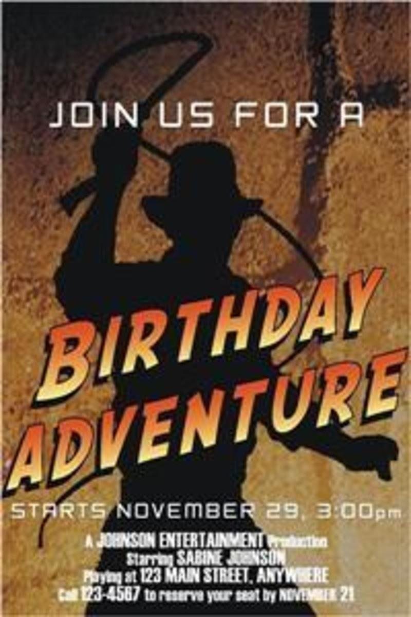 Indiana Jones Birthday Party Theme Supplies and Ideas – Indiana Jones Party Invitations
