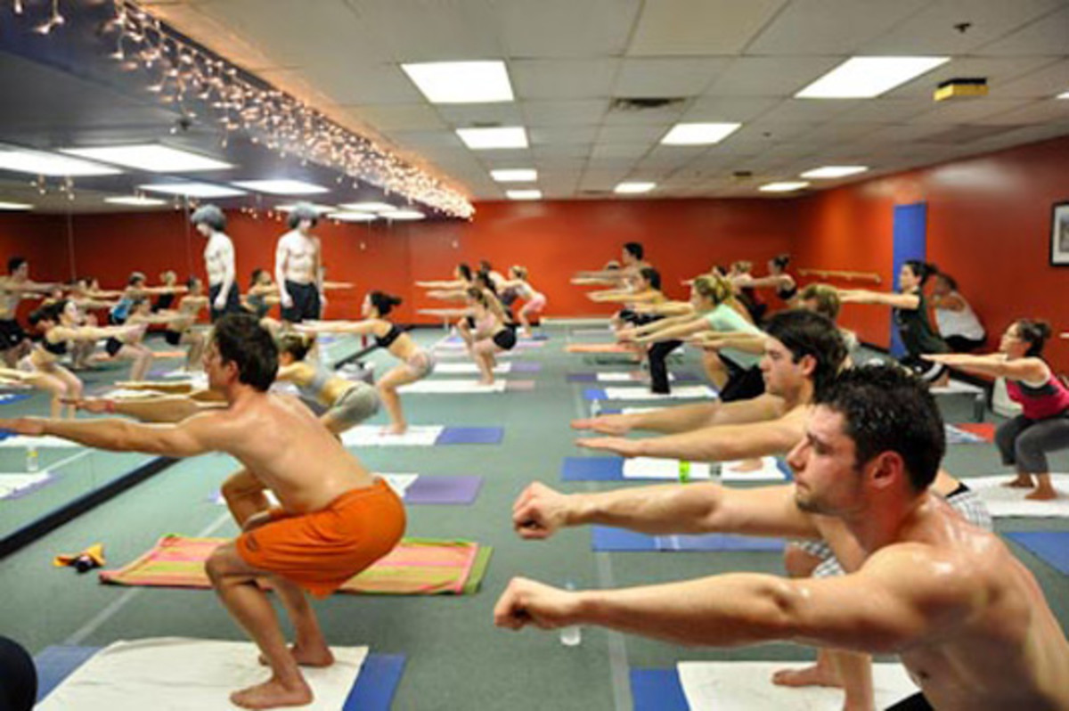 A Bikram yoga class