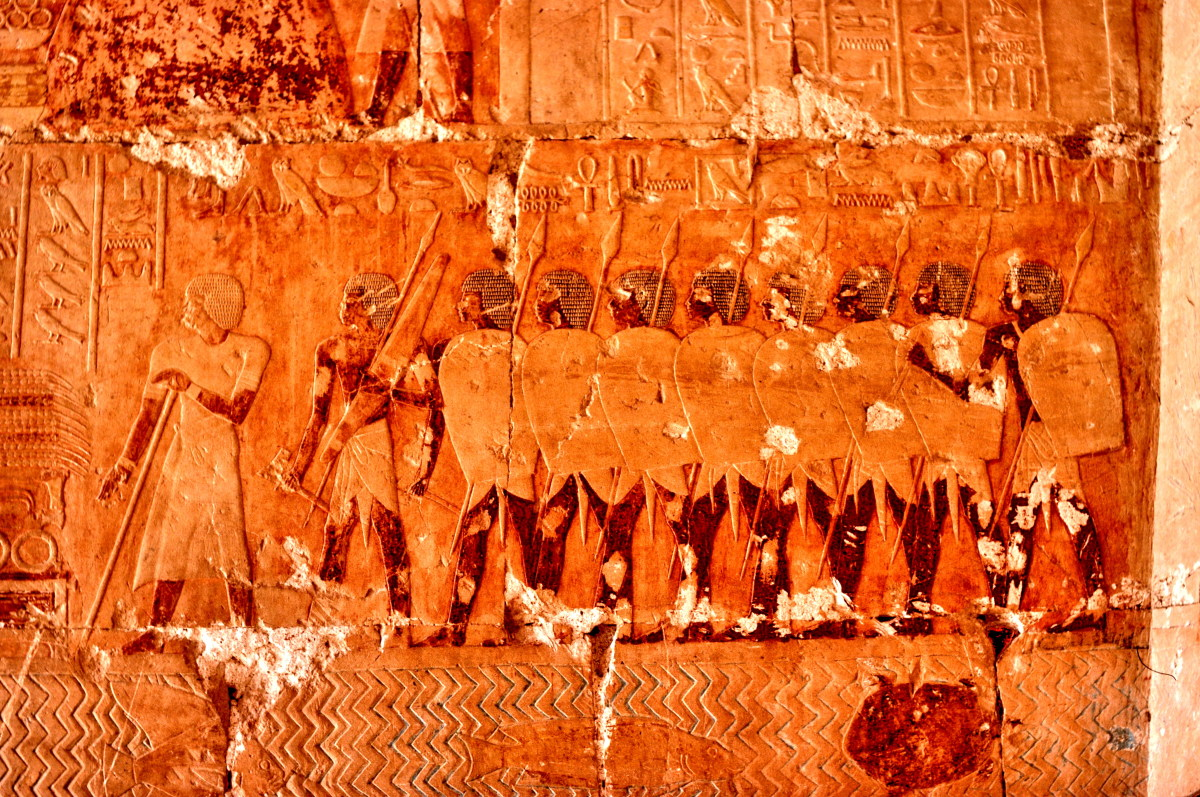 Images showing Hatshepsut's expedition to Punt