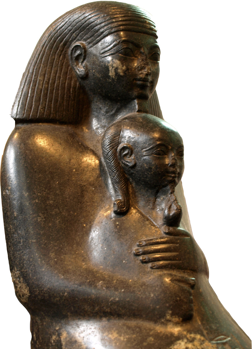 Hatshepsut's Daughter Neferure with Senenmut (her tutor and later adviser of Hatshepsut)