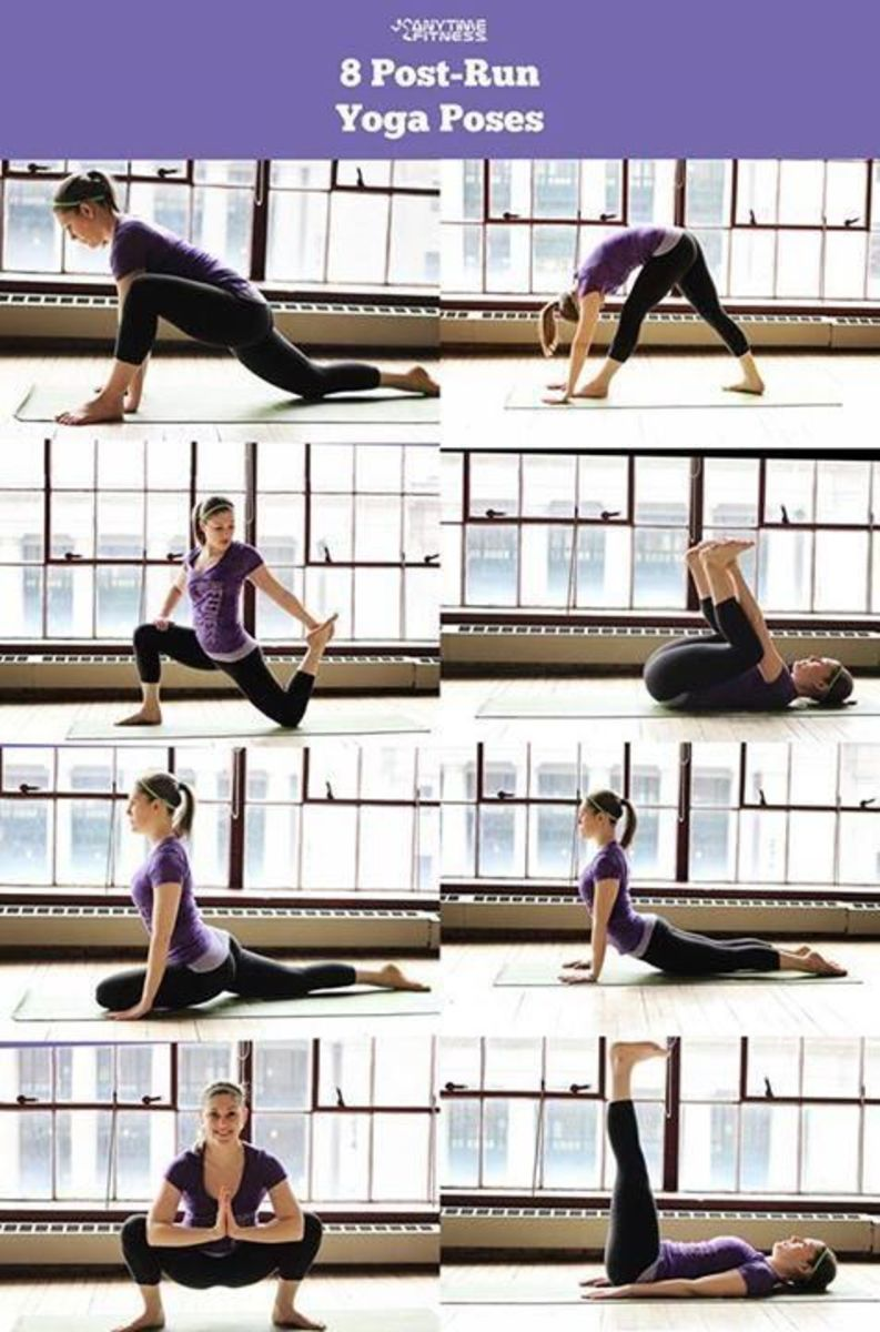 Yoga poses to help you cool down your muscles.