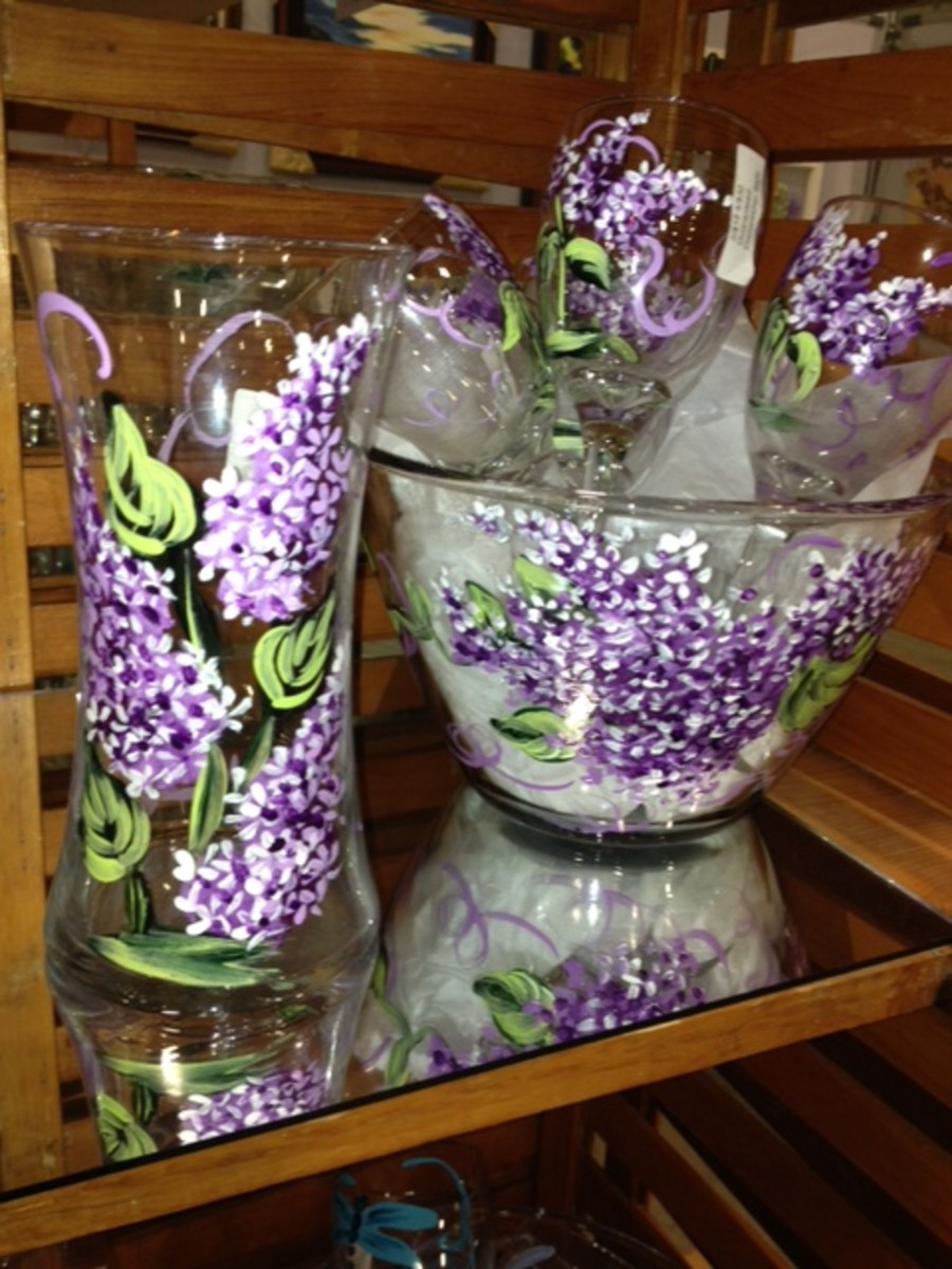 Gorgeous lilacs - visit this link to purchase http://www.bucklercraftfair.com/lakeland.php
