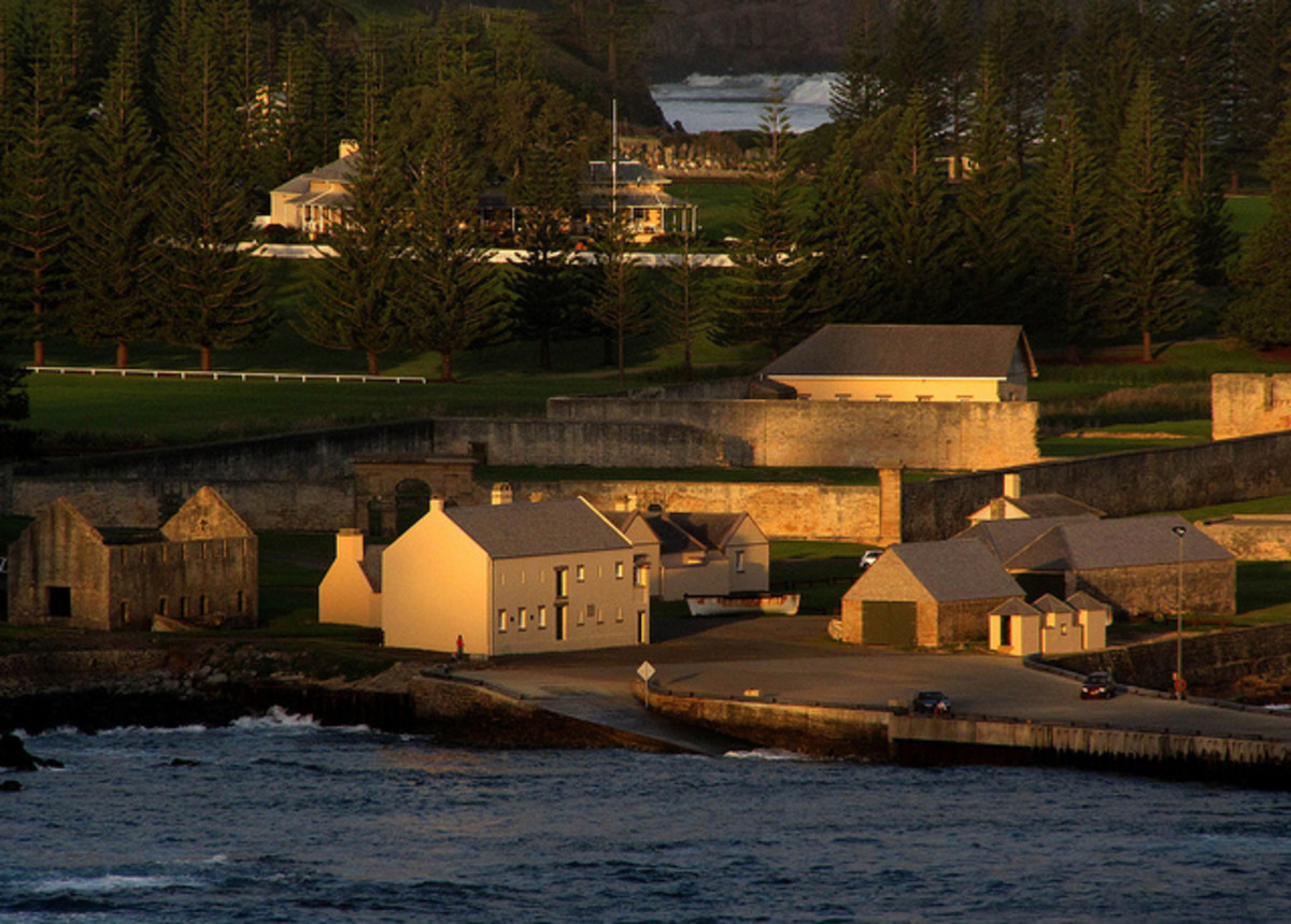 Kingston - The capital city of Norfolk Island.