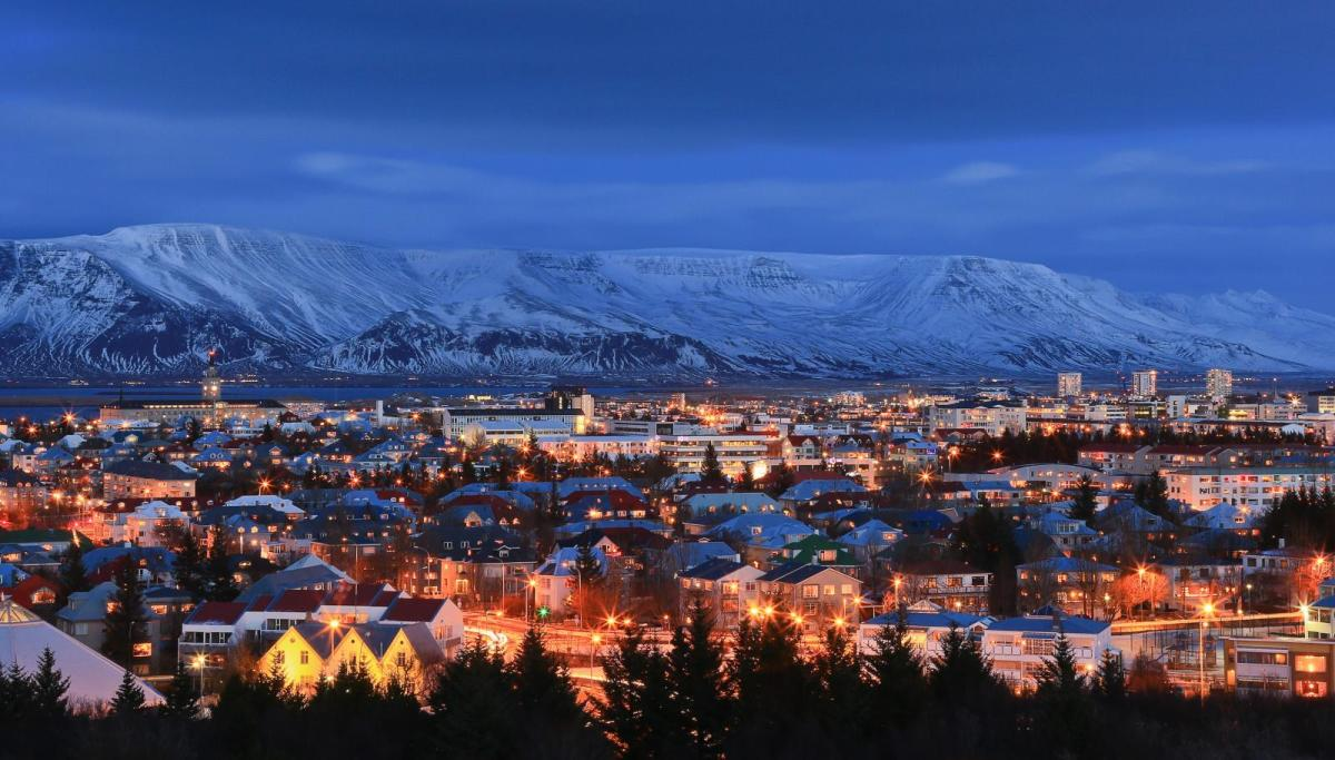 Reykjavik, the capital of Iceland is the world's northernmost national capital situated at roughly 64 Degrees North and 21 Degrees West. Iceland is one of the world's northernmost countries to use UTC as standard time throughout the year without DST