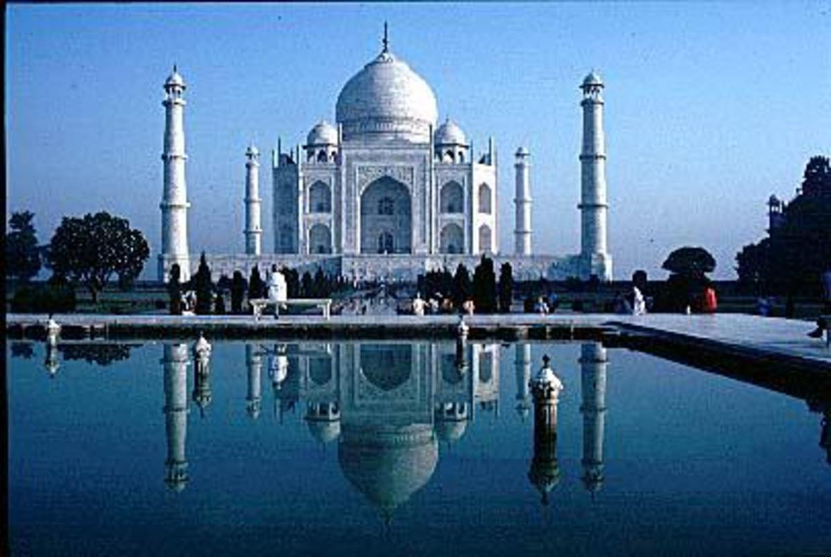 The Taj Mahal at Agra in the state of Uttar Pradesh, India.