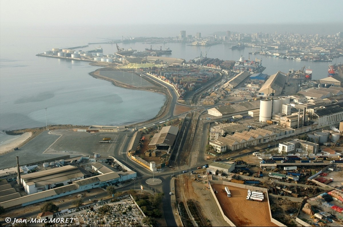 The port of Dakar, Senegal. The Senegalese capital is mainland Africa's westernmost city, situated at 14 Degrees North and 17 Degrees West - thus making it one of the westernmost places to use UTC as standard time.