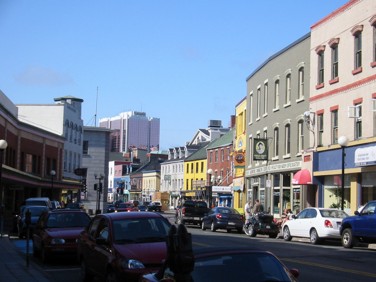 Water Street in St Johns, Newfoundland