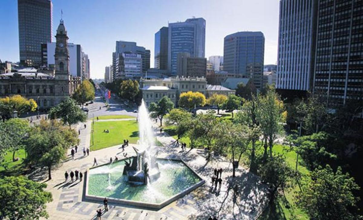 Adelaide - the largest and capital city of the state of South Australia.