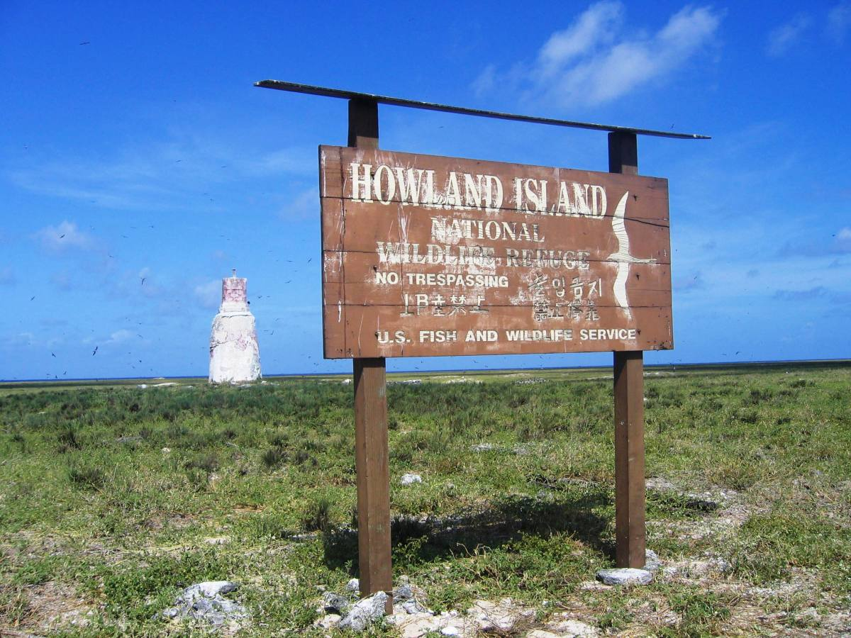 A 'No Trespassing' Sign on Howland Island