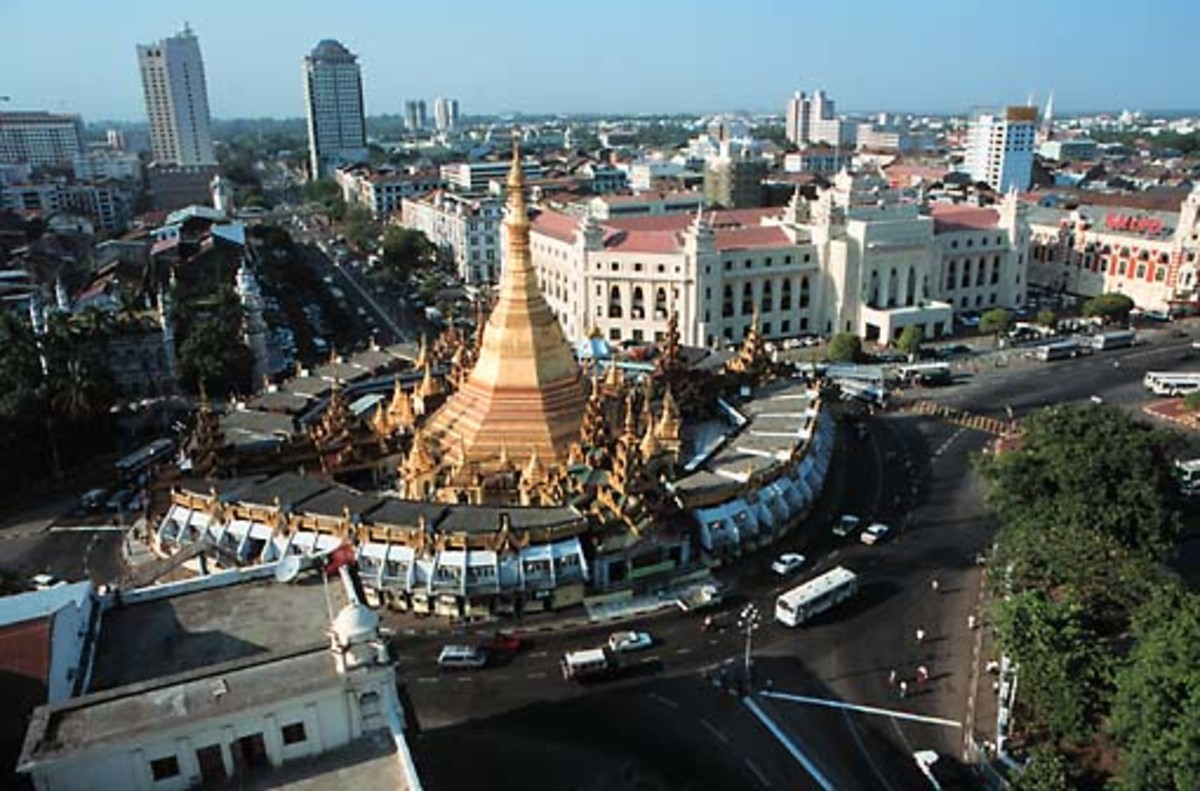 Rangoon (formerly known as Yangon), Myanmar's largest city and former capital
