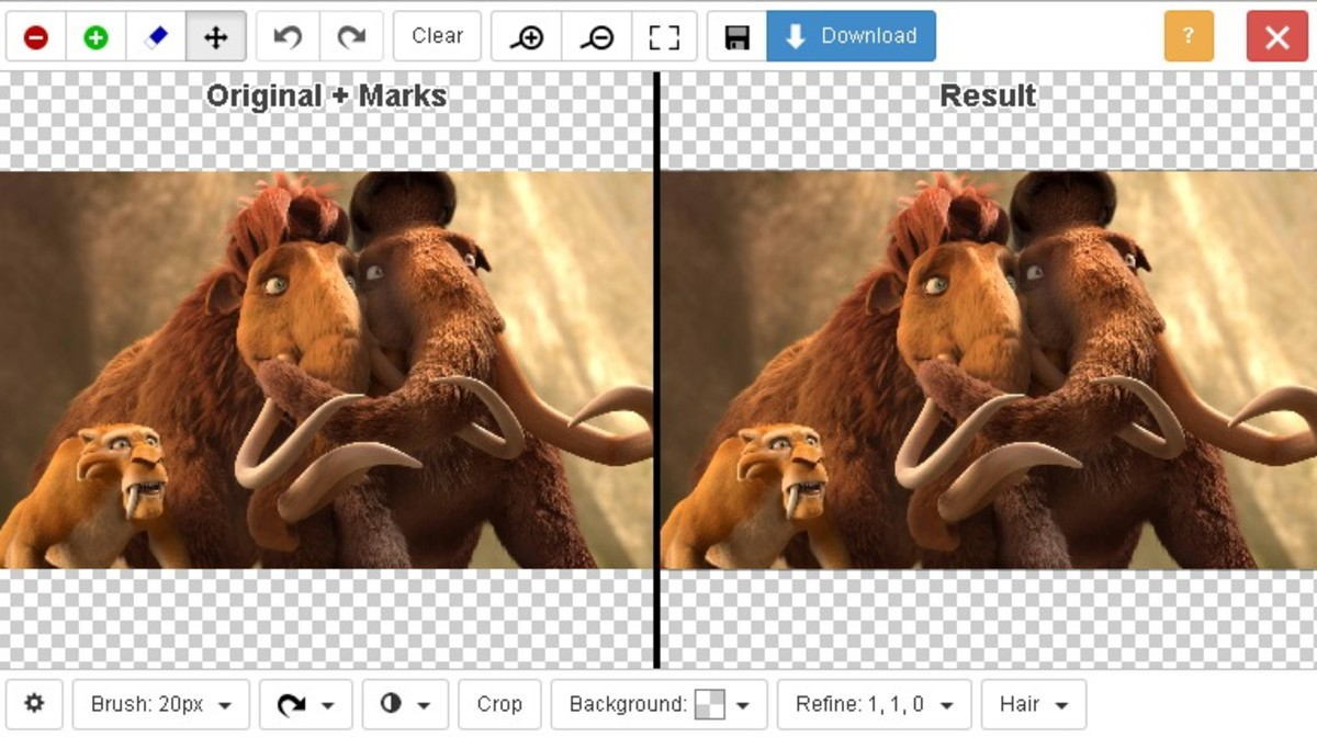 Visit the clipping magic website and upload a desired photo from which you wish to remove the image background