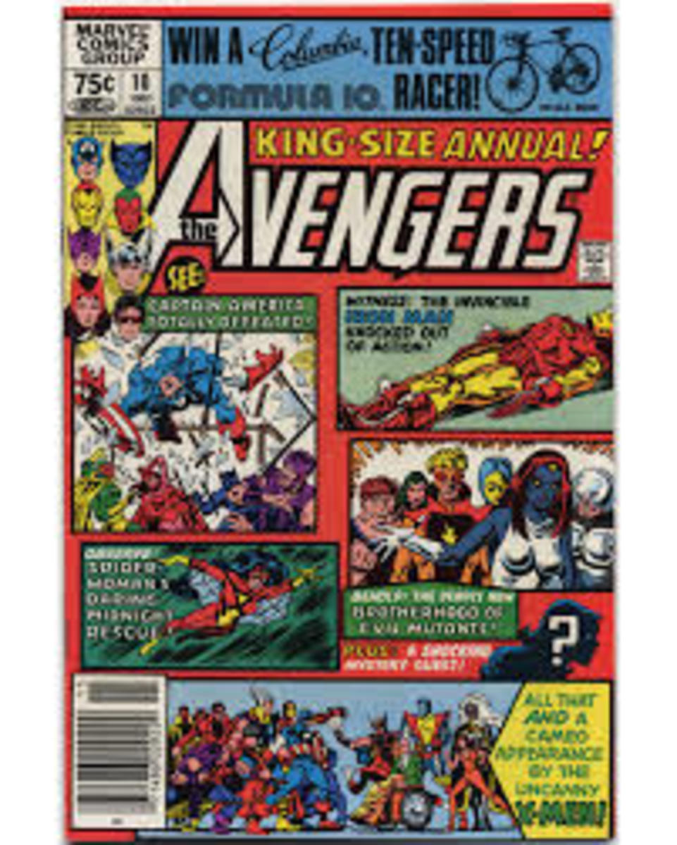 King Size Avengers Annual # 10 First appearance of Rogue.
