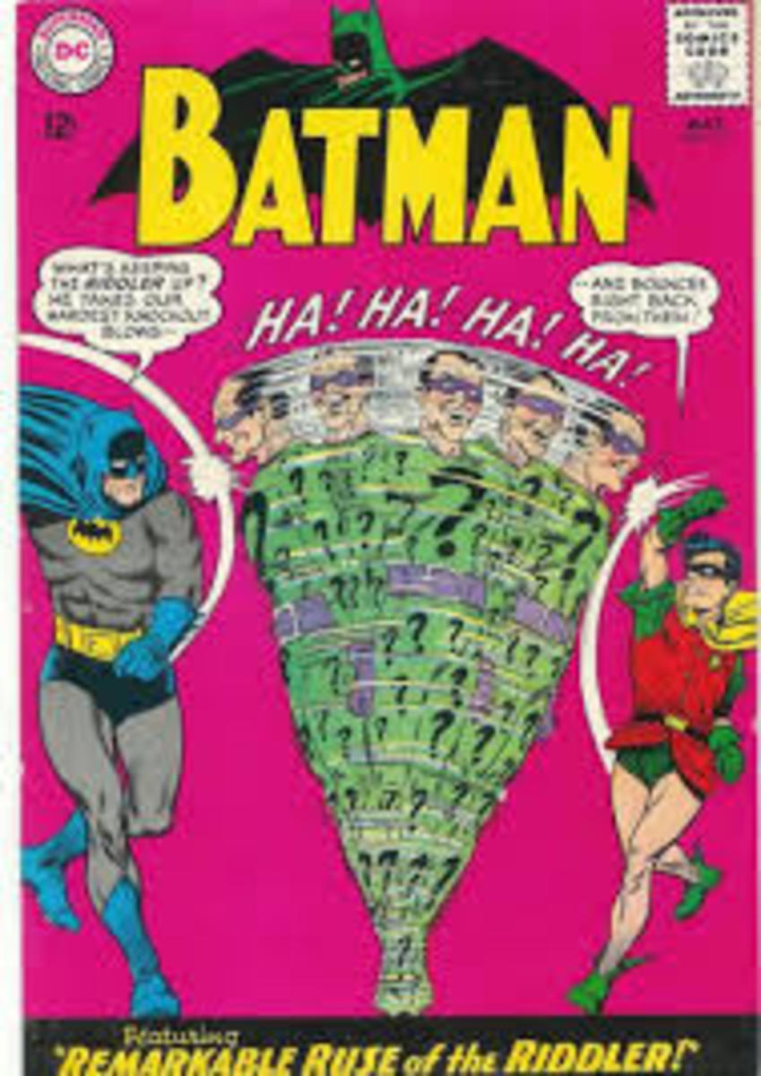 Batman and Robin struggle to get to grips with the Riddler.