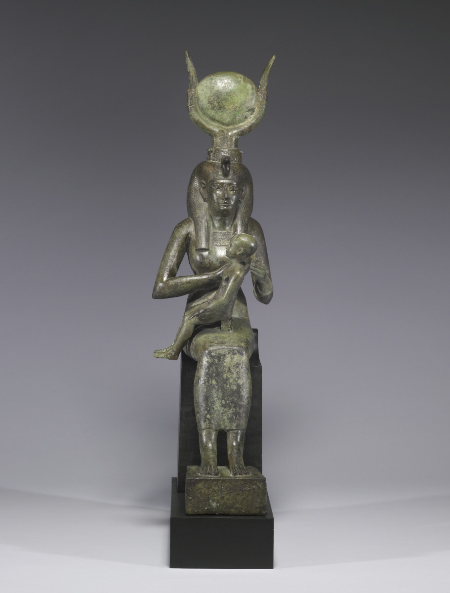 Isis with baby Horus