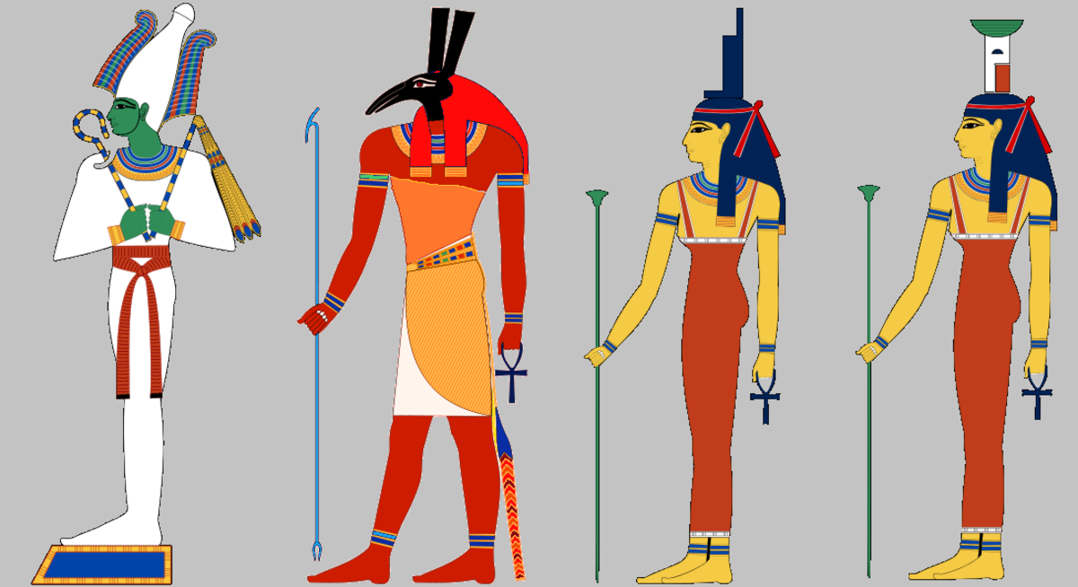 Osiris, Set, Isis and Nepthys the Children of Nut and Geb