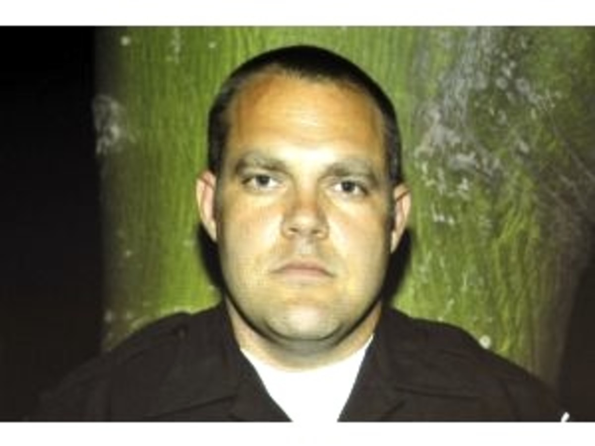Joseph Wolfe, one of 3 policemen who beat Kelly Thomas who later died from his injuries.  Charges were dropped against Wolfe when his fellow officers were acquitted.