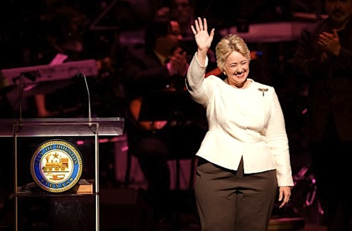 Mayor Annise Parker of Houston Texas who voted for and was instrumental in passing laws that outlaw homeless people in Houston so as to make the city more appealing to people of quality.