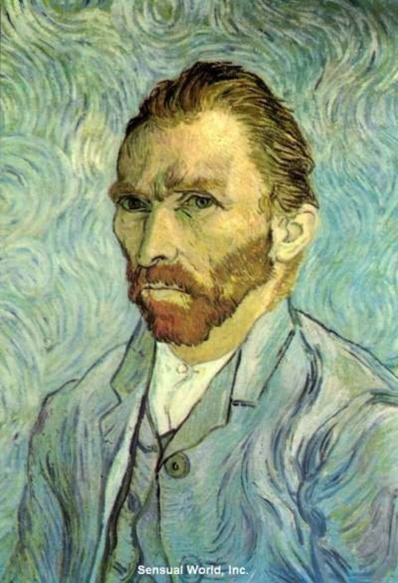 This modern postcard features a reproduction of Dutch post-impressionist Vincent van Gogh's 1889 self portrait. starting bid is $4.99