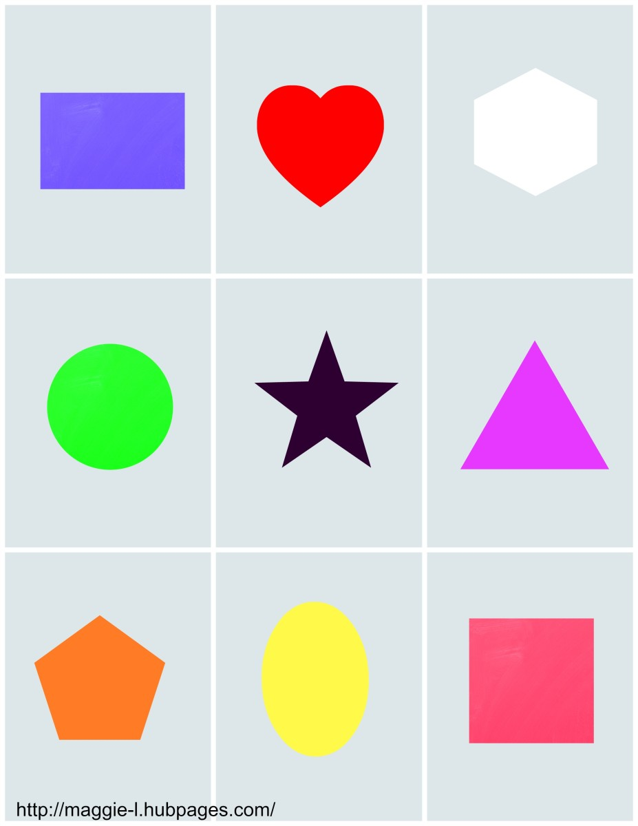 This matching pairs game will help your child learn to identify shapes and colours.