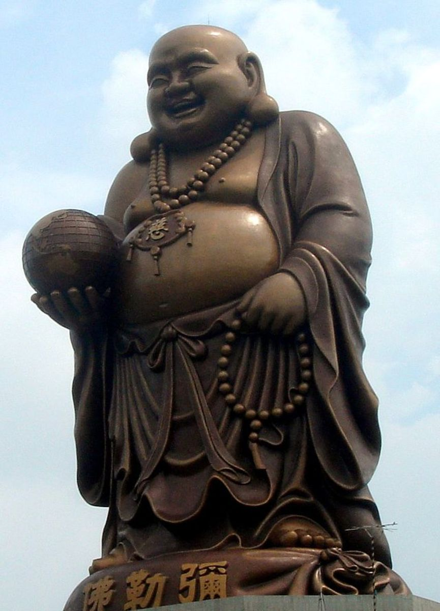 The fat laughing Buddha is a symbol of good luck.
