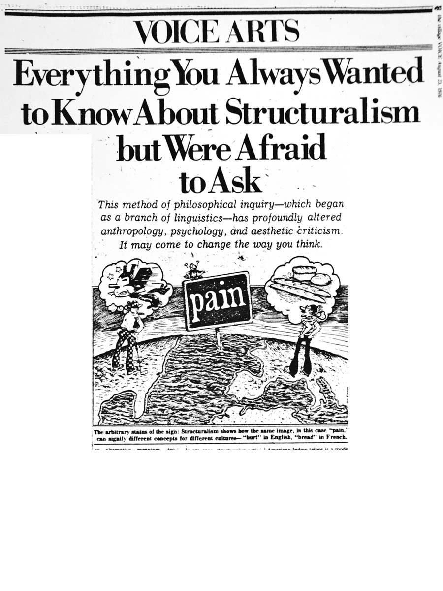 This is a great source to dig deeper into what Structuralism is and how it's used.