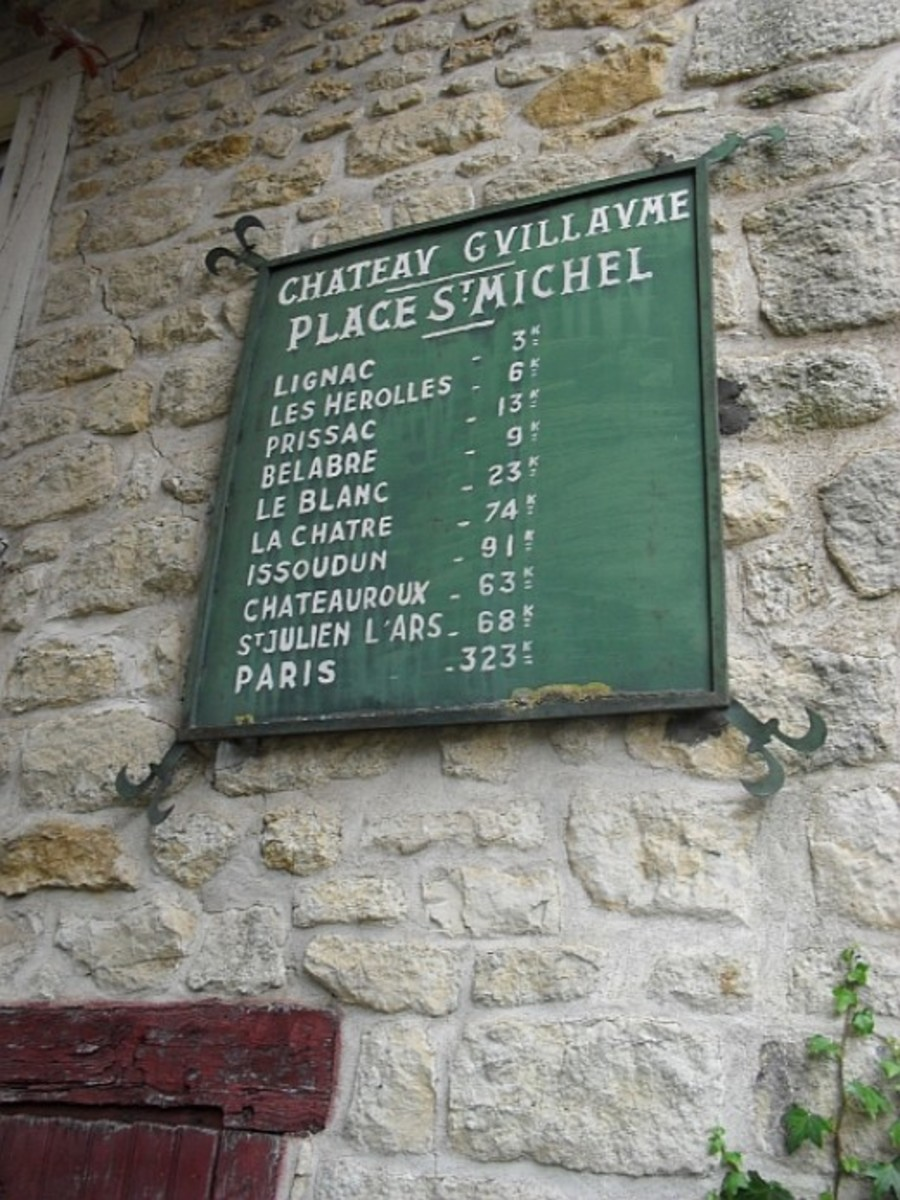 Chateau Guillaume distances