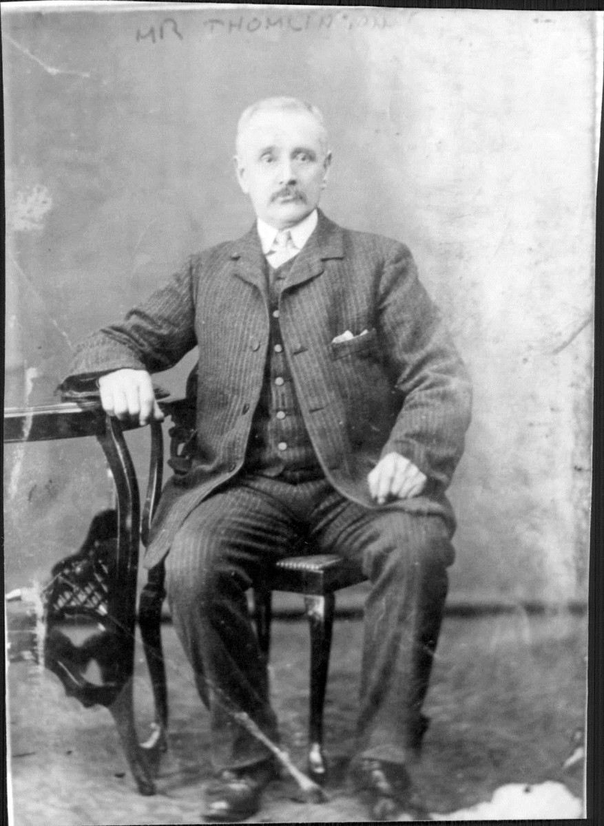My great-great-grandad, Mr Tomlinson, father of Laura Garnham (nee Tomlinson) around 1900. He was grandad to Ivy Trigg, my grandma. He would preach the Bible in Leeds' town centre, but scared my grandma with his religious fervour.