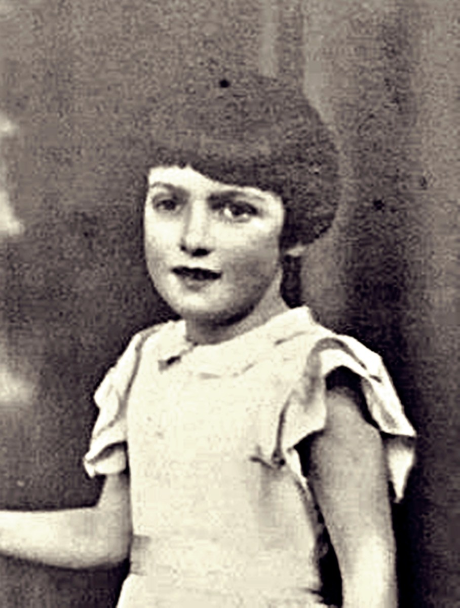 My mum (pictured as a child in the 1930s) recalled visits to a private mental health facility in Leeds to visit her uncle Albert, her mum's older brother, where he lived from the age of 14.