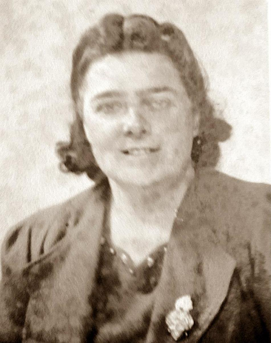 My grandma during World War Two, when she worked in a munitions factory