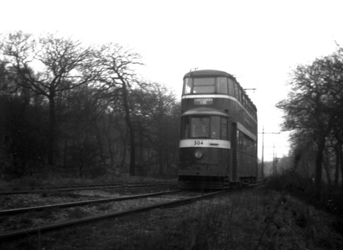 Trams used to run through Middleton Woods to take the workers to the nearby coalmine.