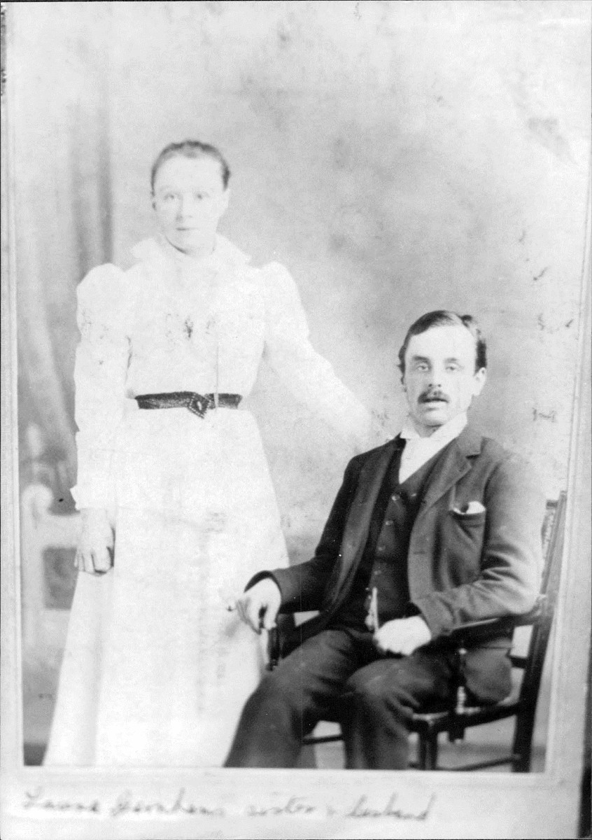 """This photo is captioned """"Laura Garnham's sister & husband"""", so they were my grandma Ivy's aunt and uncle (date unknown). Sadly, I don't know their names."""