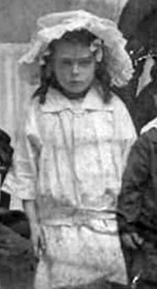 My grandma Ivy Trigg (nee Garnham) as a little girl in Leeds in 1914, when she was six years old.
