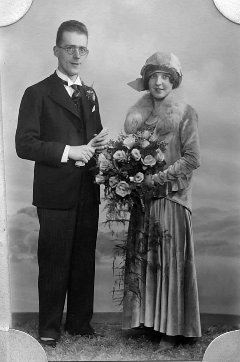 The wedding of my grandma Ivy Trigg's cousin, who was a singer. I do not have her name. The groom played piano in the cinema in the days of silent films.