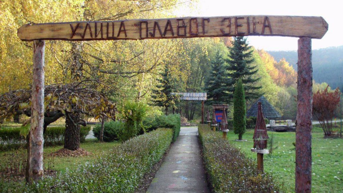 ULICA PLAVOG ZECA-THE STREET OF BLUE RABBIT-AMAZING PARKS IN VRNJACKA BANJA