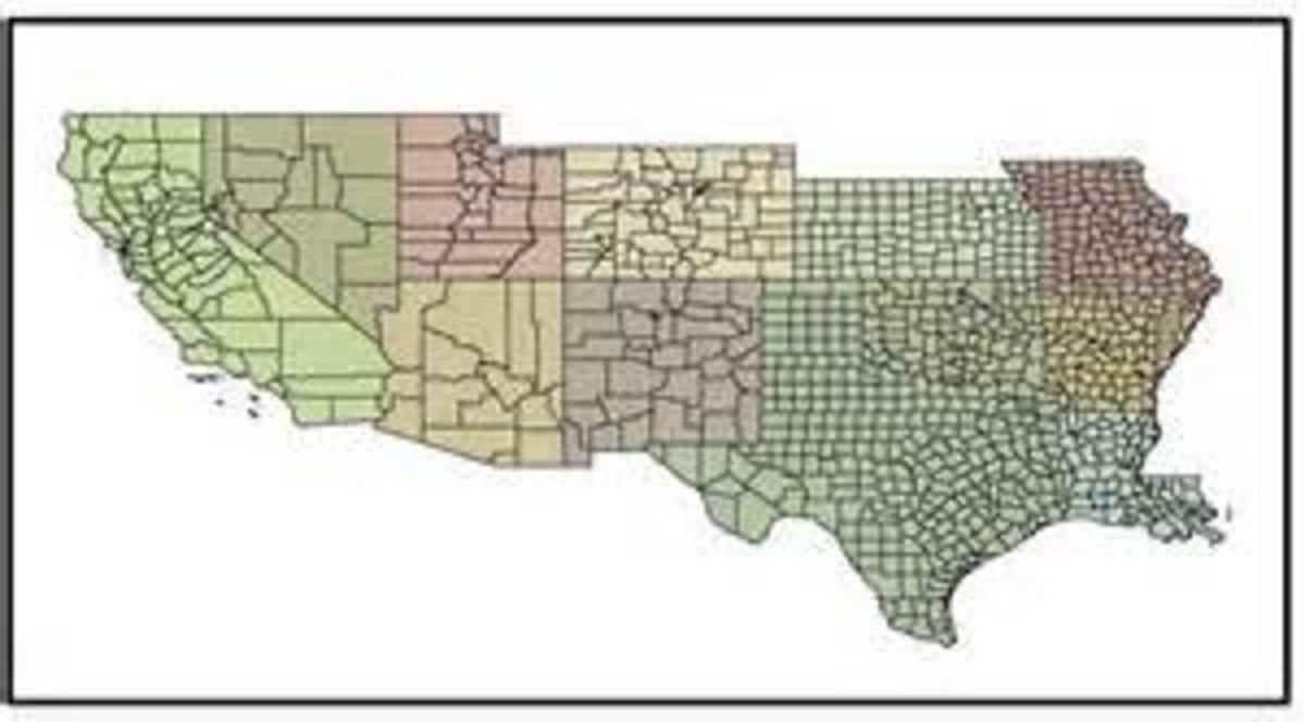 Distribution of Tarantulas in the USA