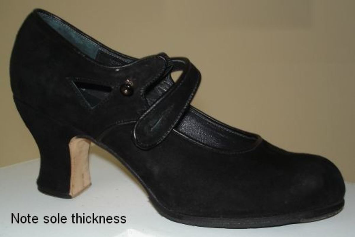 A good flamenco shoe has a thick sole